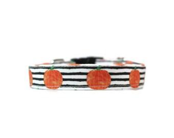 Watercolor Pumpkins,  Pumpkin Dog Collar,  Halloween Dog Collar,  Halloween Cat Collar, Orange  Cat Collar, Fall Dog Collar, Fall Cat Collar