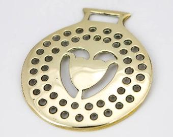 Vintage Horse brass  – Heart design