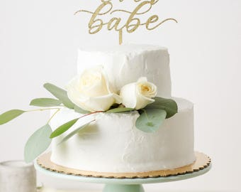 Forever and Ever Babe Laser Cut Cake Topper