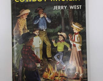 Vintage Happy Hollisters and the Cowboy Mystery by Jerry West, First Edition, 1961