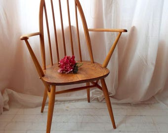 Ercol Quaker Carver Chair in vintage condition