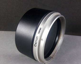 Canon T-60-2 Metal Lens Hood Shade for 1.8/85 FL Lens