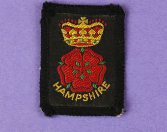 Hampshire County Vintage 1970s NOS Patch