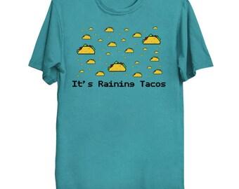 IT'S RAINING TACOS 8-Bit T-Shirt YouTube Shirt Pixel Art