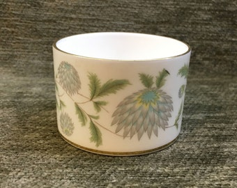 Coalport, Waltz of the Flowers, Mustard Pot, Condiment Pot, Bone China, Gold Trim, Made in England, 1950s