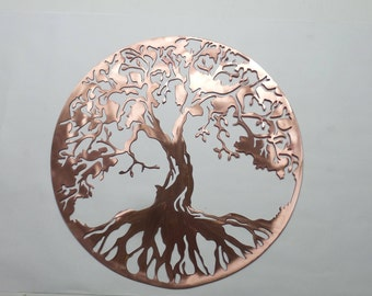 Tree of Life - Solid Copper Metal - Copper Wall Art 16 inch COT34
