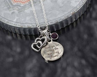 Mother in law gift, thank you for raising the man of my dreams, mother in law necklace with charms, mother of the groom gift