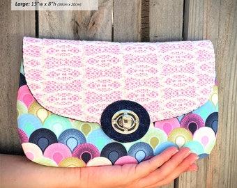 Clutch pattern, Statement Clutch, clutch purse pattern, clutch pdf, large clutch, oversized purse, purse pattern