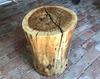 READY TO SHIP! Custom Black Sand Inlaid Cottonwood Stump Table