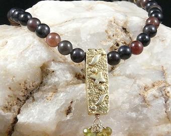 Scapolite & Vermeil Necklace