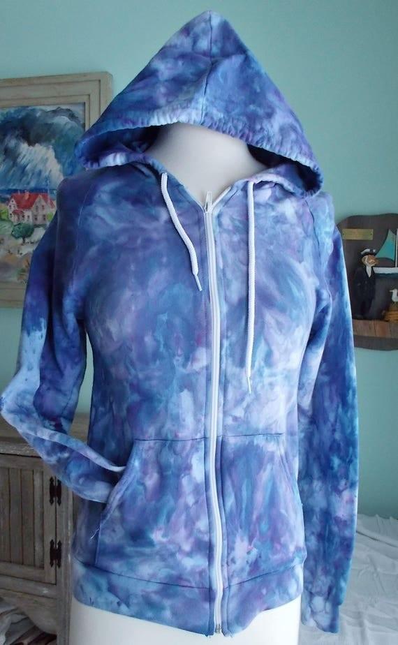 Ice dye tie dye Small Zip Hoodie
