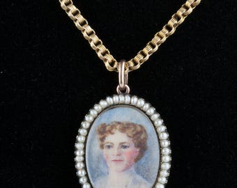 An Edwardian Open Locket