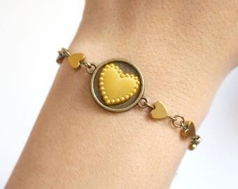 Heart Gold bracelet Daughter bracelet Thin bracelet Gold heart bracelet Teen daughter gift under 15 Best selling items Bestfriend bracelet