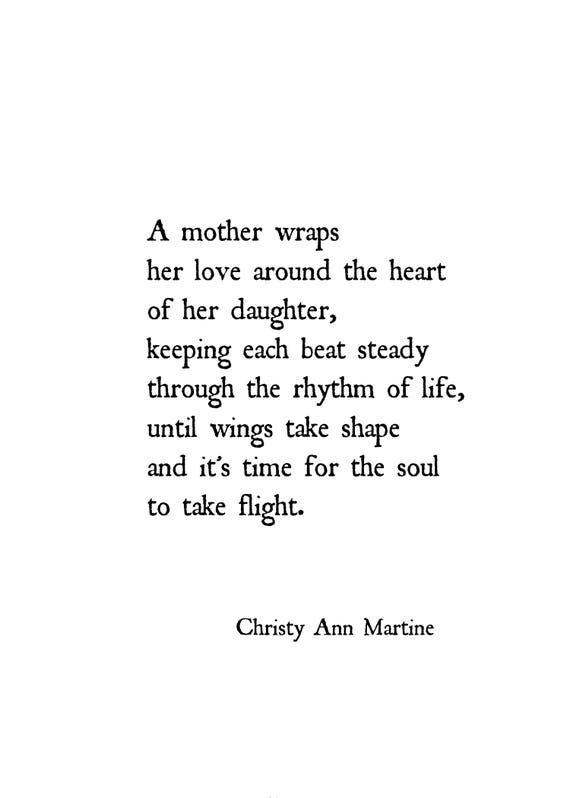 Gift for Mom from Daughter - Mother Daughter Poem Print - Poetry Prints