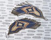 Native American Beaded Earrings, Seed Bead Earrings, Beaded Earrings, Fringe Earrings, Seed Bead Jewelry, Long Earrings, Beaded Jewelry