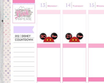 012 | Disney Countdown Stickers