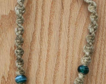Handmade hemp necklace