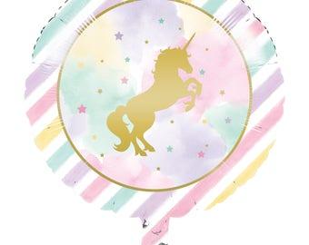 My Unicorn Balloon / unicorn Party theme  / Unicorn Party /pastel unicorn party / unicorn party balloon/ party balloons