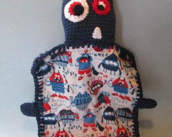 Crochet Monster Lovey - Amigurumi -  Lovey Blanket - Security Blanket -  Crochet Lovey - Crochet Toy -  Blanket Toy -  Handmade Baby Toy -