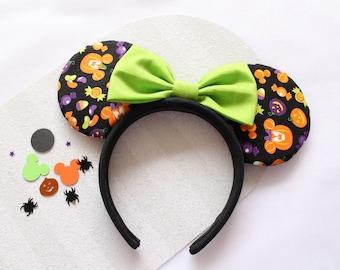 Mickey Pumpkin Heads Halloween Mouse Ears, Mickey Pumpkin Heads Mouse Ears, Halloween Mouse Ears, Halloween Minnie Ears, Mouse Ears