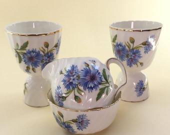 Royal Adderley 'Cornflowers' Breakfast Set