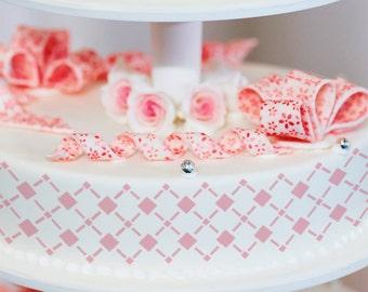 Cake Stencils- Mixed Diamond Stencil, Birthday Cake, Wedding Cake, Celebration Cake, Washable, Reusable, Dishwasher Safe, Food Safe