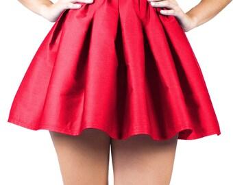 Pleated Skirt, Red Skater Skirt, Pleated Mini Skirt, Pleated Plaid Skirt, Pleated Tennis Skirt, Pin Up Clothing, Circle Skirt, Skater Skirt