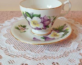 Vintage fine bone china England tea cup and saucer set