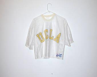 80's UCLA CHAMPION MESH crop top t-shirt size large