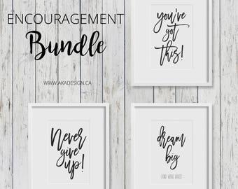 Encouragement Bundle - 3 Printable Prints