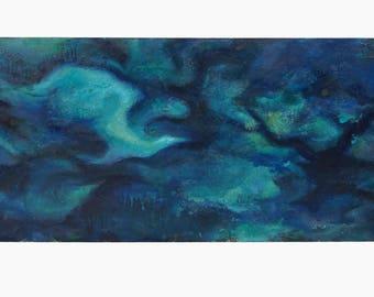 1957 John Steczynski Abstract Oil Painting Board MCM MOD Decor Abstraction Mid Century Art