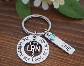 LPN Nurse Keychain | Graduation Gift for LPN Nurse | Nurse Gifts | Nurse Graduation Gift | Nursing Student | Nurse Keychain for LPN Nurse