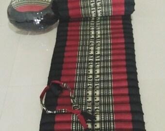 HOT DEAL,A set of kapok rolled mattress and zafu round cushion