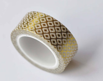 Foil Gold Washi Tape  Deco Tape 15mm x 5M Roll No.12619
