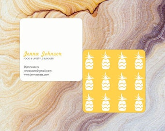 Customizable Square Pineapple Business Card with Round Corners | Moo.com Compatible