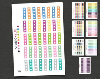1/2 Box Checklist Stickers - Repositionable Matte Vinyl To suit most planners