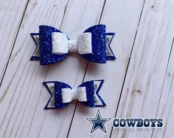 Dallas Cowboys Inspired, Dallas Cowboys Hair Bow, NFL Bows, Football Hair Bows