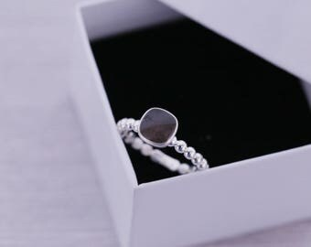 Cremation Ring - Sterling Cushion Cut Round Ring - Cremation Jewelry - Ash Ring - Ash Jewelry - Urn Ring - Urn Jewelry - Pet Loss