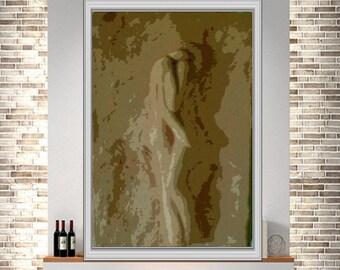 Mixed Media Abstract Figuative art acrylic Painting giclee painting print original fine art print modern original canvas art large wall art