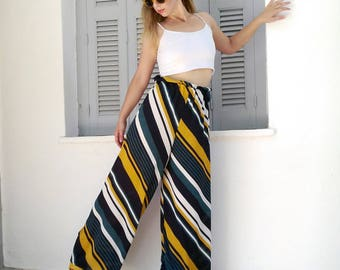 Women's wide leg pants,wide leg trousers,palazzo pants,womens pallazo pants,loose fit pants,printed wide leg pants,summer palazzo pants