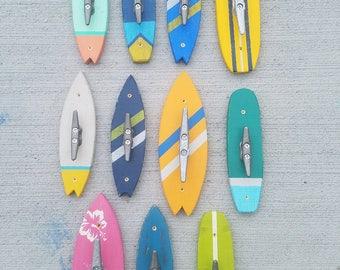 Surfboard Coat Hooks, Surf Hooks, Coat Hook, Rustic Surfboard Coat Hook, Coat Rack, Towel Rack, Surfboard Towel Rack, Surfboard Rack