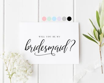 Will You Be My Bridesmaid, Card For Bridesmaid, Bridesmaid Proposal Card, Bridesmaid Request Card, Be My Bridesmaid, Wedding Card Bridesmaid