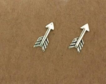 Sterling Silver Arrow Earrings, Arrow, Sterling Silver, Stud Earrings, Minimalist, Studs, Earrings, Silver Earrings