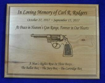 In Loving Memory ~  Memorial Gift ~ Sympathy Gift ~ Engraved Memorial ~ Gun Memorial Gift ~ Engraved Sympathy Gift ~ Gun Lover Gift ~ Guns ~