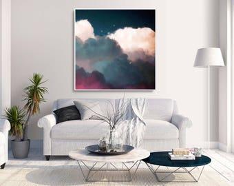 Cloud Painting | Cloud Art | Abstract Art | Painting on Canvas | Wall Art | Corinne Melanie Art