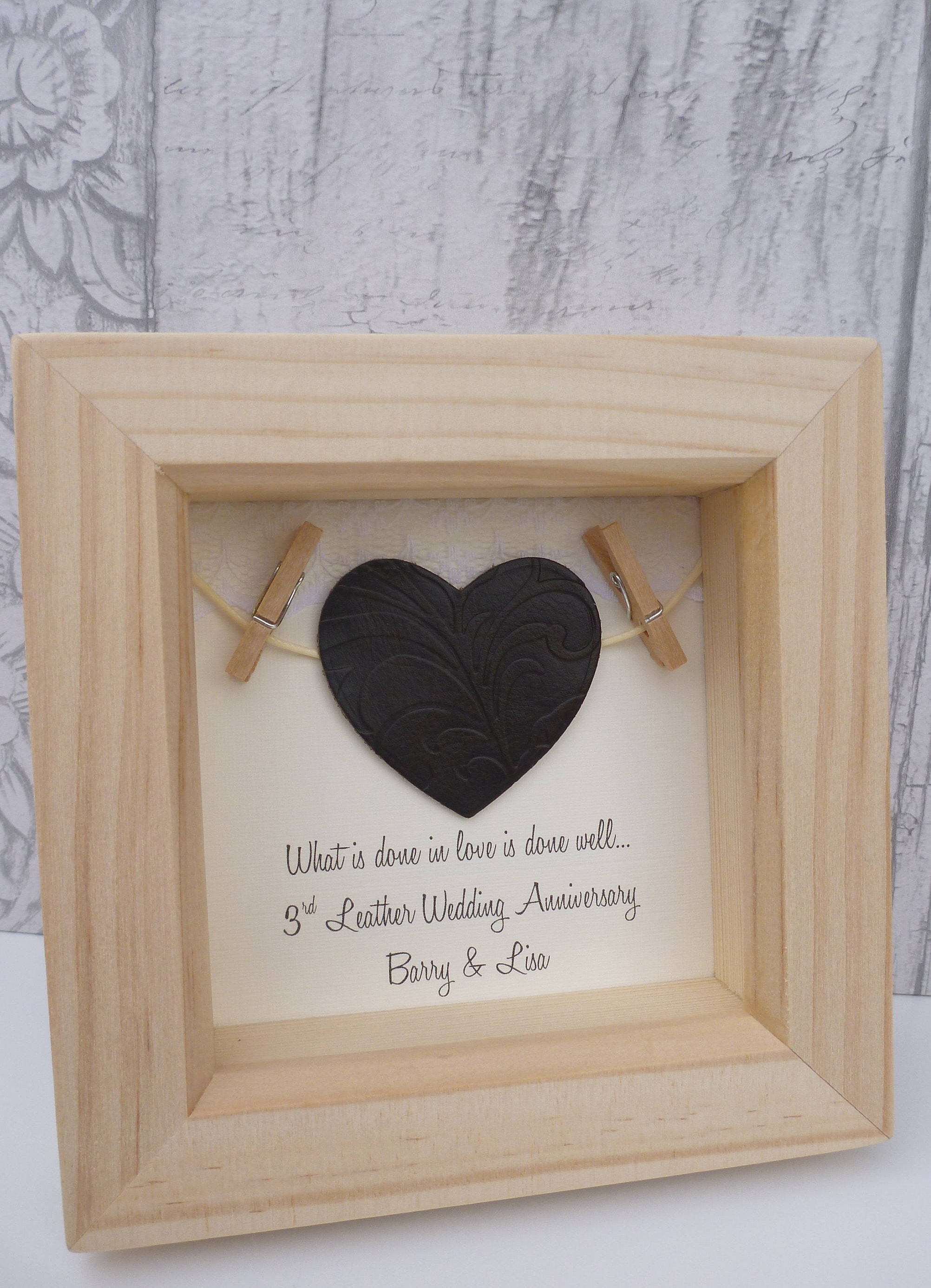 3rd Anniversary Gift Wedding Leather