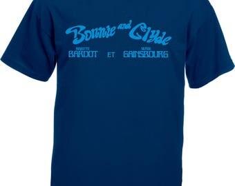 Bonnie And Clyde T-Shirt - Serge Gainsbourg & Brigitte Bardot, Various Colours