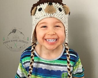 NEW! Crocheted hedgehog hat for kids, knitted porcupine beanie, funny animal hat for kids teens and adults