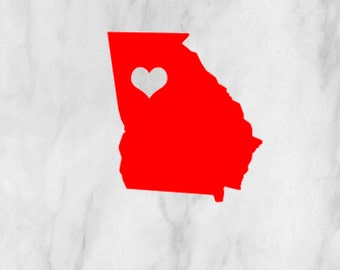 ANY Heart State Decal Car Vinyl Sticker