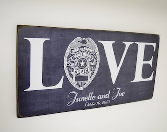 Police Wedding Gift, Police Officer Anniversary Gift, Policeman Gift, Police Decor, Police Sign, Police Wedding, Policeman Wedding, Cop Gift